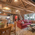 Tahoma Cabin Living Room