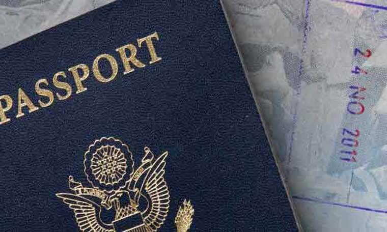 Close up of a passport