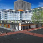 Artist rendering of new boutique hotel