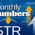 "Graphic showing arrows going up and down with text ""Monthy Numbers"" , STR, REVPAR, ADR"