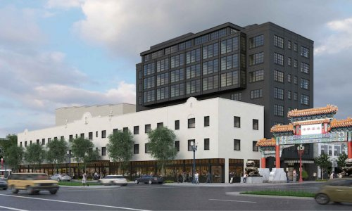 Grove Hotel, which will likely have a Kurt Huffman restaurant, tops out in Old Town Chinatown