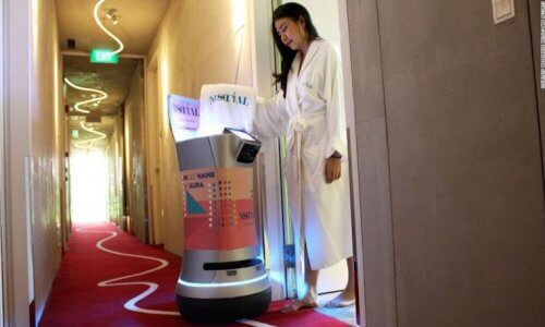 Introducing AURA, the room service robot