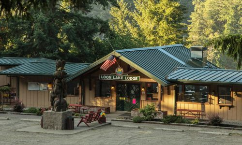 Loon Lake Lodge Front Entrance